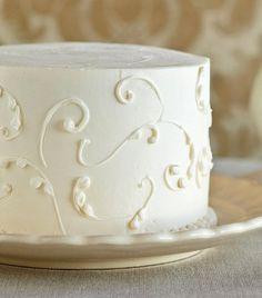 Lovely white birthday cake