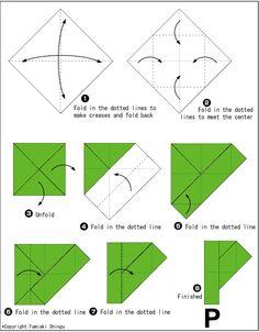 Origami Alphabet P