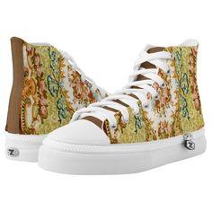 79b7ef092fc2d Floral Vintage Design Printed Shoes Printed Shoes