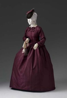 Afternoon Dress (Bodice, Skirt) circa 1855-1865. The Mint.