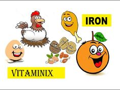 Vitaminix - #Kids Learning Videos About #Food & #Health - Iron