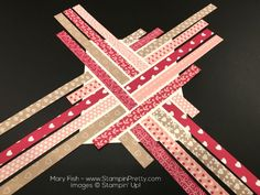 Stampin Up First Sight Love Blossoms Designer Series Paper Valentine Card Idea By Mary Fish Strips Valentines Day Cards Handmade, Greeting Cards Handmade, Strip Cards, Patchwork Cards, Stampin Up Anleitung, Origami, Paper Quilt, Card Tutorials, Pretty Cards