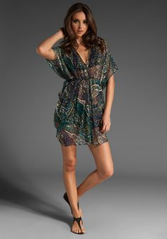 JOIE a la plage Twilight Tropical Paisley Tunic/Cover Up