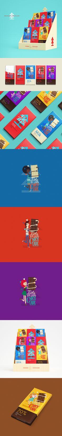 Neleman's Chocolade #brand #branding #illustration #swt #marca #embalagem #packaging