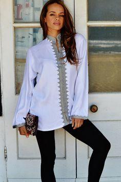 Boyfriend White Moroccan Kalina Shirt-perfect door MaisonMarrakech
