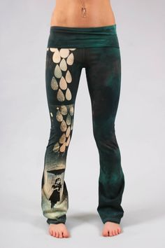 MOD, POP, ANCIENT, SOHO, STREET, HAND PAINTED TEXTILE, ART YOGA PANTS by Tristan Christopher, David Williams from COUTURE TEE & COUTURE YOGA PANTS. DESIGN YOUR OWN YOGA PANT, WE'D LOVE TO COVER YOU STEMS AND BATHE THEM IN ART, YOU ARE A WONDERFUL WALKING MURAL.