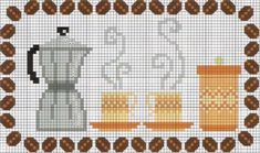 Espresso pattern / chart for cross stitch, crochet, knitting, knotting, beading, weaving, pixel art, and other crafting projects.
