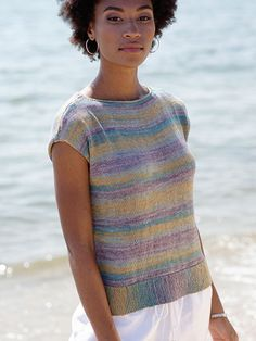 Villa Tee Knit Pattern download from Annie's Craft Store. Order here: https://www.anniescatalog.com/detail.html?prod_id=142712&cat_id=469