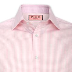 Gingham Check Shirt - Double Cuff by Thomas Pink