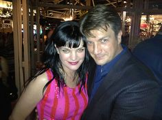 Pauley Perrette and Nathan Fillion from my two favorite shows - NCIS and Castle!