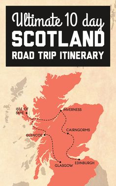 The plan is start in Glasgow then make our way around Scotland for an action-packed road trip around the countryside before ending up in Edinburgh! Heres the itinerary for our 10 day epic Scotland road trip / A Globe Well Travelled Scotland Road Trip, Scotland Vacation, Scotland Travel, Ireland Travel, Honeymoon In Scotland, Scotland Tourism, Camping Scotland, Italy Travel, Road Trip Packing