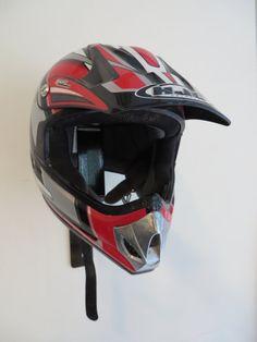 Helmet Storage Display Motorcycle Football by SwampMachineShop