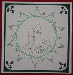 Weihnachtskarte Fadengrafik