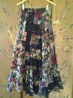 Indian boho gypsy skirt by Wotsnewpussycat on Etsy, $45.00