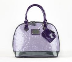Hello Kitty Embossed Handbag: Purple Exclusive