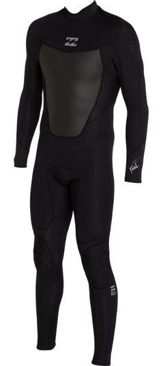 7cdb9a28ea Billabong Foil 302 Wetsuit Men s Back Zip 3 2mm Flatlock Full Wetsuit This  Billabong Foil