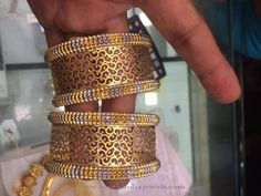 50 Grams Gold Bangles Sets, Four Gold Bangles in 50 Grams, 4 Gold Bangles set in 50 Grams. Gold Bangles Design, Jewelry Design, Designer Bangles, Designer Jewellery, Designer Wear, Jewelry Accessories, Design Page, Schmuck Design, Gold Jewelry
