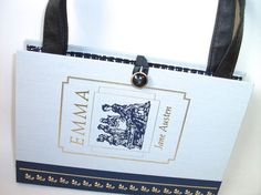 Book Purse Jane Austen Emma Book Handbag Designer Clutch Bag