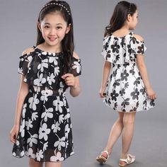 Cheap kids flower dress, Buy Quality girls dress directly from China teenage girls dresses Suppliers: Teenage Girl Dresses Summer 2018 Children's Clothing Kids Flower Dress Chiffon Princess Dresses For Age 7 8 9 10 11 12 Years Trendy Dresses, Cute Dresses, Girls Dresses, Summer Dresses, Infant Dresses, Summer Clothes, Baby Dress, The Dress, Robes Vintage