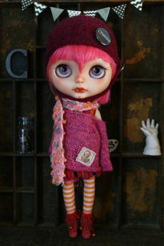 Custom OOAK Blythe Art Doll Little Miss Candy Hearts by Cupcake Curio | eBay