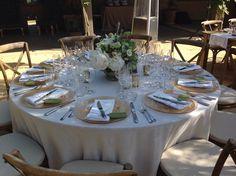 Mayacama Wedding. White green gold wedding flowers reception low centerpiece.@fleursdefrance  Fleurs de France. www.fleursfrance.com. Wedding planner @ColeDrakeEvents. Fleurs de France - Sonoma, Napa Valley, Calistoga, Healdsburg, St Helena, Wine Country, Wedding Florist, Wedding Flowers & Event Designer
