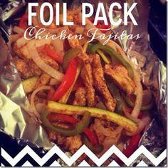 Foil Pack Chicken Fajitas