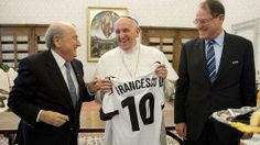 "Sepp Blatter on meeting Pope Francis:""We spoke the same language and it was language of football."""