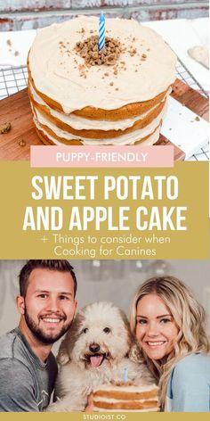 Dog Safe Cake Recipe, Dog Cake Recipes, Dog Treat Recipes, Dog Food Recipes, Apple Recipes, Party Recipes, Dessert Recipes, Desserts, Puppy Birthday Cakes