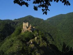 Poenari Castle, from which Vlad Tepes III (Dracula) ruled Wallachia with an iron hand. It stands on a cliff, on the right side of the Transfăgărăşan road which climbs high into the mountains. Poenari Castle is said to be one of the most haunted places in the world.