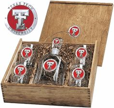 Texas Tech Red Raiders Decanter Boxed Set with Enamel $165.00