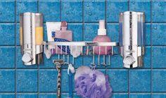 Aviva Luxury Double Dispenser and Basket Chrome finish: Amazon.co.uk: Kitchen & Home