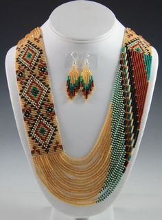 DIY and Crafts on Share Sunday - Navajo Beaded Necklace, Navajo Necklace, Rena Charles, Sedona Indian Jewelry, Sedona Native America - Red Jewelry, Seed Bead Jewelry, Indian Jewelry, Jewelry Crafts, Beaded Jewelry, Indian Earrings, Gold Jewellery, Navajo Jewelry, Loom Bracelets