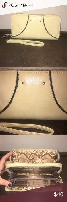 Nicole Miller double zip wallet Nicole Miller New York double zip wallet, one stain as shown in the last pic otherwise excellent condition Nicole Miller Bags Wallets