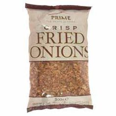Buy Fried Onions online from Spices of India - The UK's leading Indian Grocer. Free delivery on Fried Onions - Prime (conditions apply). Potato Toppings, Fried Onions, Yummy Snacks, Indian Food Recipes, Mashed Potatoes, Fries, Conditioner, How To Apply, Tasty
