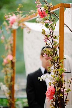 love this Chuppah for a spring wedding #chuppah #spring #ceremony http://michelleedgemont.com/recent-work/