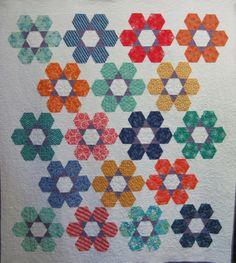 Hexie Garden Quilt at Piece by Piece