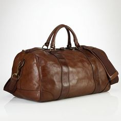 Fancy - Leather Gym Bag by Polo Ralph Lauren