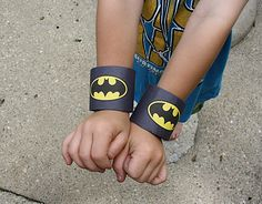 Become your favorite comic book hero with this incredibly thrifty project! DIY Batman Wrist Cuffs