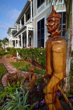 The Tin Man was carved out of one of the many lost trees as a result of Hurricane Ike.    by Erik Pronske