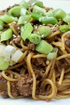 Szechuan Noodles With Spicy Beef Sauce Recipe Chinese.Genius Kitchen, Beef Recipes Chef in Training, Quick Asian Beef Ramen Noodles R. Beef Sauce, Hoisin Sauce, Soy Sauce, Szechuan Noodles, Szechuan Beef, Szechuan Recipes, Do It Yourself Food, Spicy Dishes, Beef Dishes