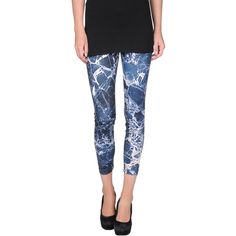 Gaëlle Bonheur Leggings ($27) ❤ liked on Polyvore featuring pants, leggings, dark blue, patterned leggings, pocket pants, multi colored pants, dark blue leggings and colorful pants