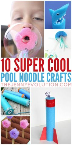 Sport Crafts For Kids Pool Noodles Ideas For 2019 Fun Crafts For Kids, Summer Crafts, Toddler Crafts, Preschool Crafts, Projects For Kids, Summer Fun, Art For Kids, Arts And Crafts, Kids Fun