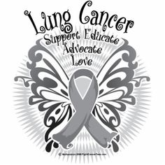 Lung Cancer Butterfly