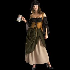 Womens Deluxe Tavern Wench Costume