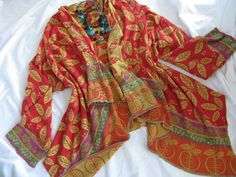 STUNNING LAGENLOOK GUDRUN SJODEN WATERFALL FRONT CARDIGAN/JACKET SIZE LARGE. #GUDRUNSJODEN