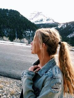 Ponytail with accent braid