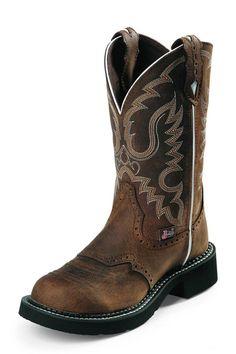 "Justin Gypsy 11"" Aged Bark Cowgirl Boots | Fashion Round Toe"