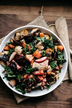 This tasty winter panzanella can easily be altered based on what veggies you happen to have in your fridge.