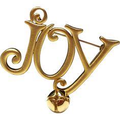Christmas Joy JJ pin Jonette brooch