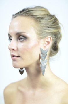 Flea Market Girl silver plated long earrings